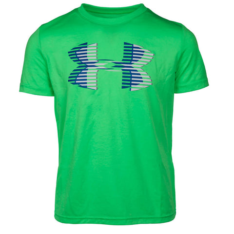 UNDER ARMOUR BOYS TECH BIG LOGO SHORT SLEEVE TOP ARENA GREEN