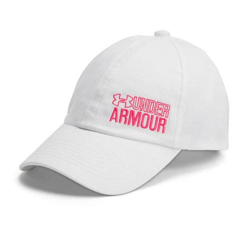 UNDER ARMOUR GIRL'S GRAPHIC ARMOUR CAP WHITE
