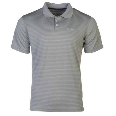 COLUMBIA MEN'S UTILIZER STRIPE POLO TOP III CIRRUS