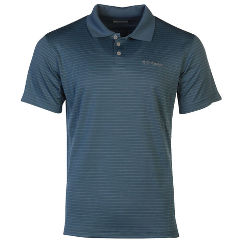 COLUMBIA MEN'S UTILIZER STRIPE POLO TOP III STEEL