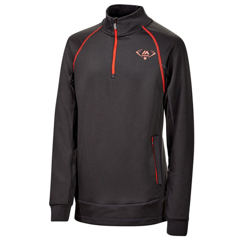 MAJESTIC Y 1/4 ZIP PERFORMANCE LS NIGHT BLK