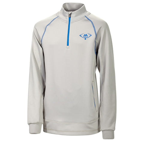 MAJESTIC Y 1/4 ZIP PERFORMANCE LS ALUMINUM