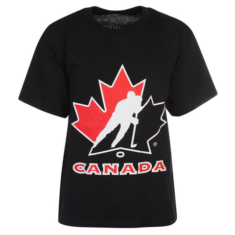 GERTEX YOUTH TEAM CANADA LOGO TEE BLACK