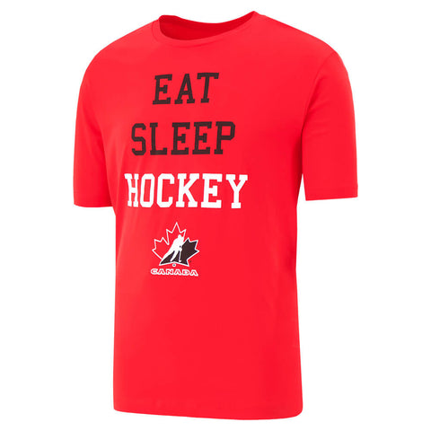 GERTEX MEN'S TEAM CANADA EAT SLEEP HOCKEY SHORT SLEEVE TOP RED