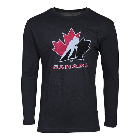 GERTEX MEN'S TEAM CANADA LOGO LONG SLEEVE TOP CHARCOAL