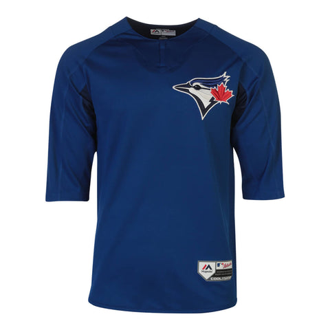 MAJESTIC MEN'S TORONTO BLUE JAYS AUTHENTIC PRE-GAME JERSEY