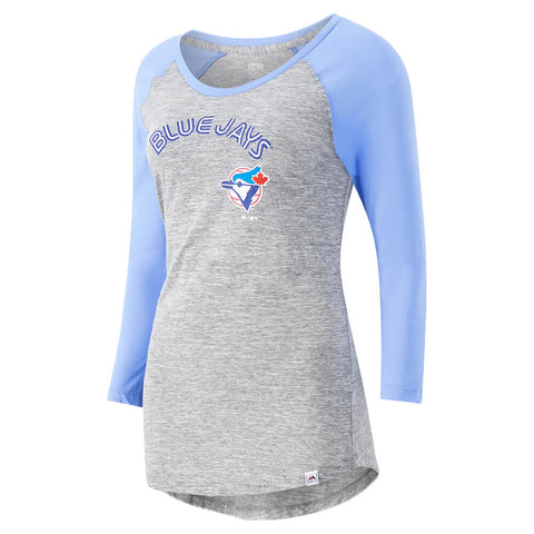 MAJESTIC WOMEN'S TORONTO BLUE JAYS COOP GAME EXPOSURE 3/4 SLEEVE TOP
