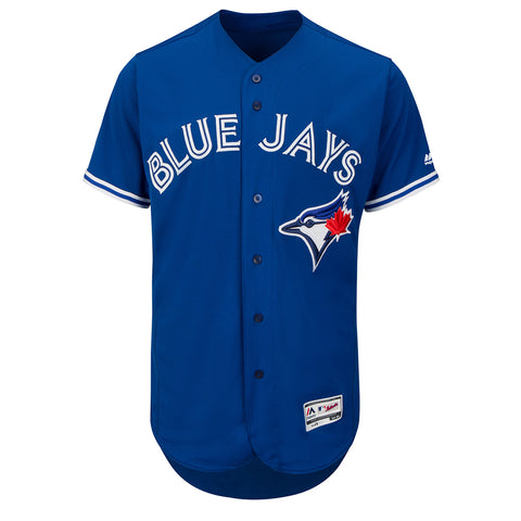 MAJESTIC MEN'S TORONTO BLUE JAYS AUTHENTIC FLEX BASE JERSEY ROYAL