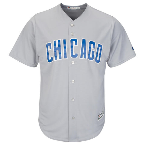 MAJESTIC MEN'S CHICAGO CUBS COOLBASE JERSEY GREY
