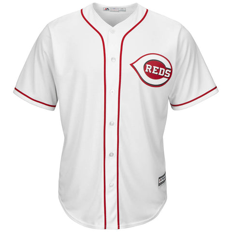 MAJESTIC MEN'S CINCINNATI REDS COOLBASE JERSEY WHITE