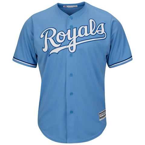 MAJESTIC MEN'S KANSAS CITY ROYALS COOLBASE JERSEY COLUMBIA