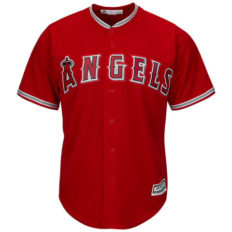 MAJESTIC MEN'S LOS ANGELES ANGELS COOLBASE JERSEY RED