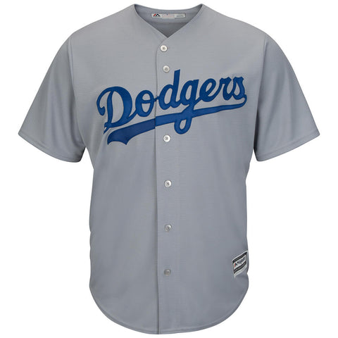 MAJESTIC MEN'S LOS ANGELES DODGERS COOLBASE JERSEY GREY