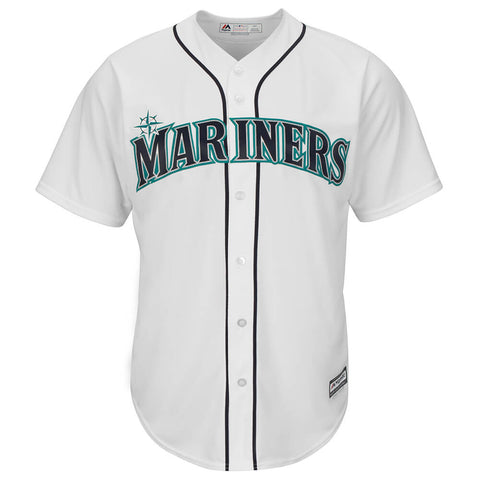 MAJESTIC MEN'S SEATTLE MARINERS COOLBASE JERSEY WHITE