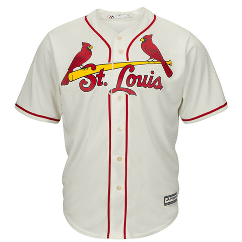 MAJESTIC MEN'S ST. LOUIS CARDINALS COOLBASE JERSEY IVORY