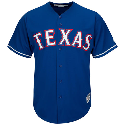 MAJESTIC MEN'S TEXAS RANGERS COOLBASE JERSEY ROYAL