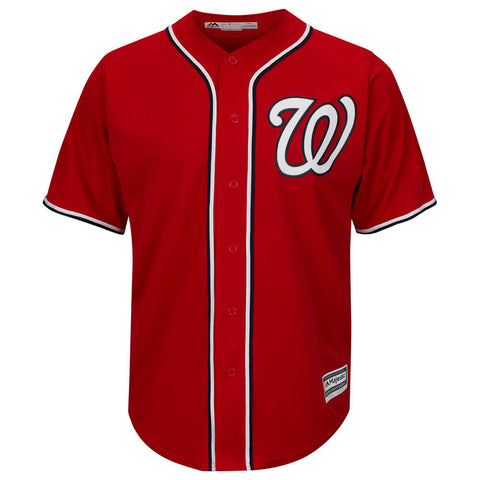 MAJESTIC MEN'S WASHINGTON NATIONALS COOLBASE JERSEY RED