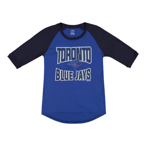 OUTERSTUFF GIRL TORONTO BLUE JAYS BASES LOADED 1/2 SLEEVE TOP