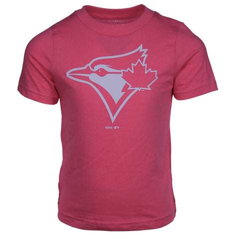 OUTERSTUFF GIRLS TORONTO BLUE JAYS 4-6X PRIMARY LOGO TOP PINK