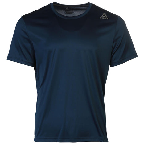 REEBOK MEN'S SHORT SLEEVE TOP WASHED BLUE