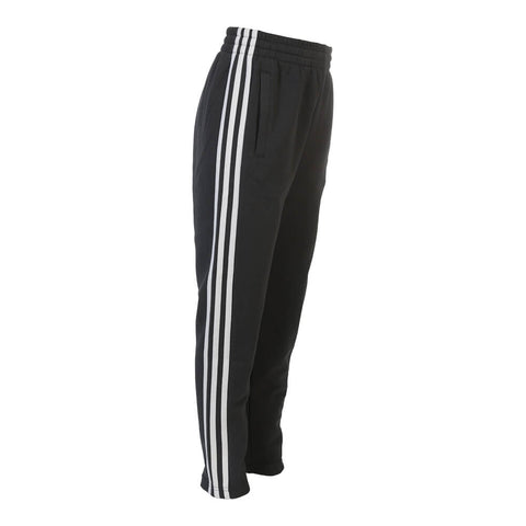 ADIDAS BOYS 3 STRIPE FITTED TAPERED PANT BLACK
