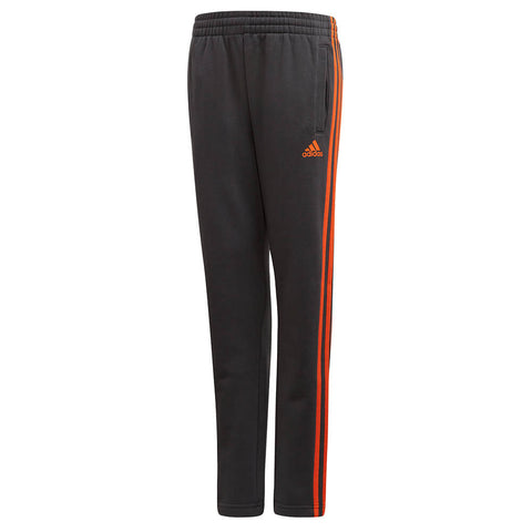 ADIDAS BOYS 3 STRIPE FITTED PANT CARBON