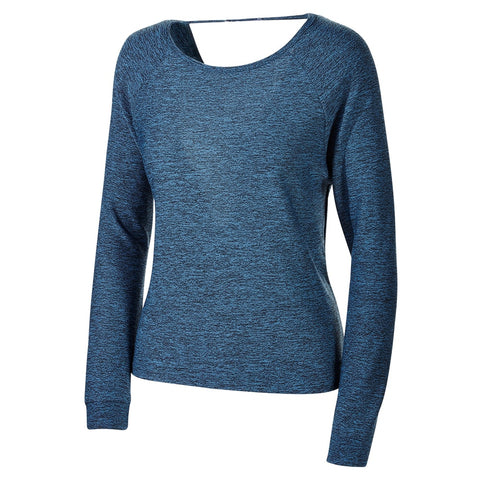 ELLE SPORTSWEAR W DRAPED BACK KNIT BLUE ROCK