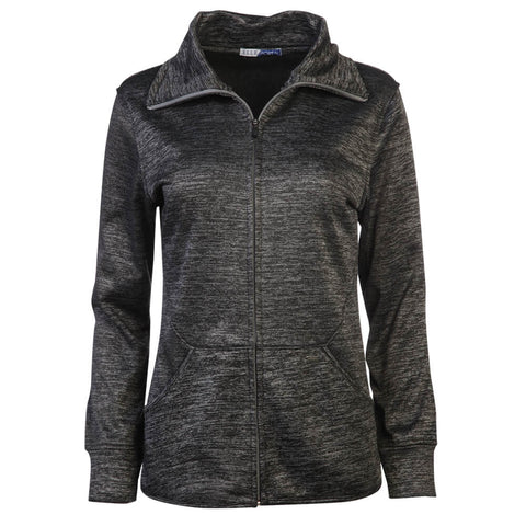 ELLE WOMEN'S INTERLOCK FLEECE FULL ZIP JACKET BLACK