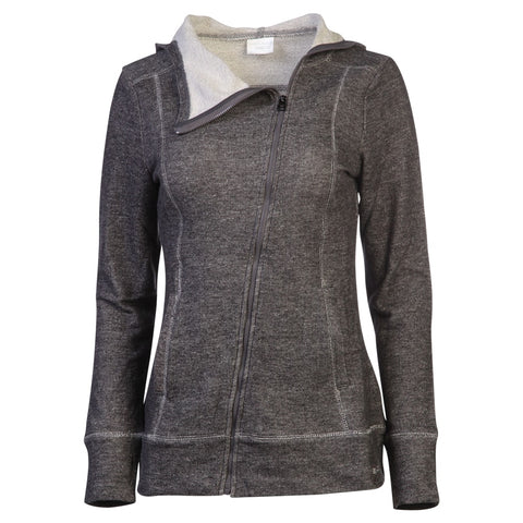 HEAD WOMEN'S POWDER DAY ASYMMETRICAL FULL ZIP HOODY CHARCOAL