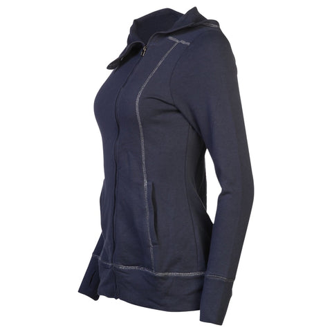 HEAD WOMEN'S POWDER DAY ASYMMETRICAL FULL ZIP HOODY BLUE