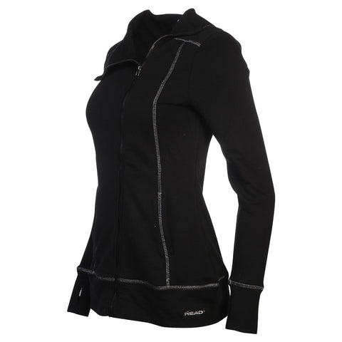 HEAD WOMEN'S POWDER DAY ASYMMETRICAL FULL ZIP HOODY BLACK