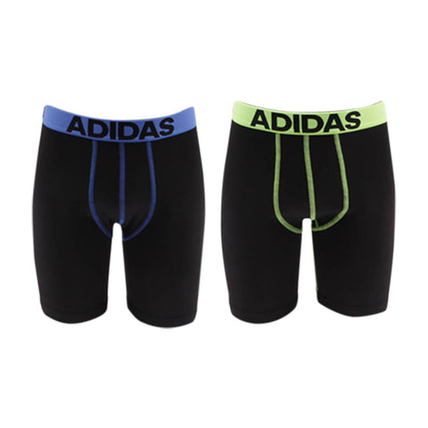 ADIDAS BOYS' CLIMALITE 2PK LONG BLACK/BLUE - BLACK/YELLOW