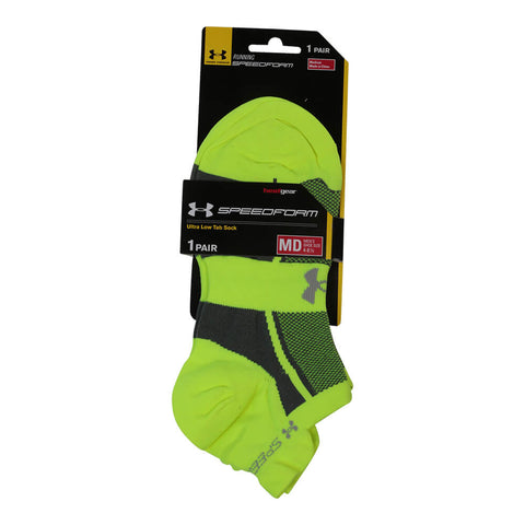 UNDER ARMOUR WOMEN'S SPEEDFORM SOCKS MEDIUM HI VIS YELLOW