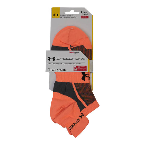 UNDER ARMOUR WOMEN'S SPEEDFORM SOCKS MEDIUM CYBER ORANGE