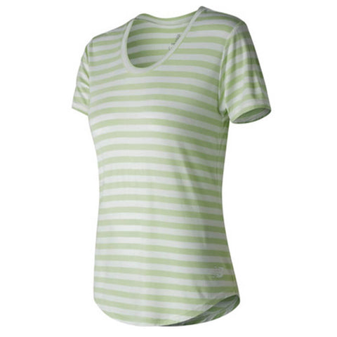 NEW BALANCE WOMEN'S STRIPE SCOOP NECK TOP BDG