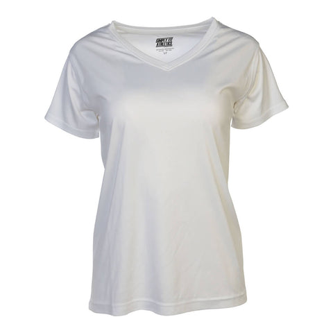 SIMPLY FIT ATHLETICS WOMEN'S TECH SHORT SLEEVE TOP WHITE