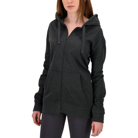 SIMPLY FIT ATHLETICS WOMEN'S TECH FLEECE FULL ZIP HOODY CHARCOAL MELANGE