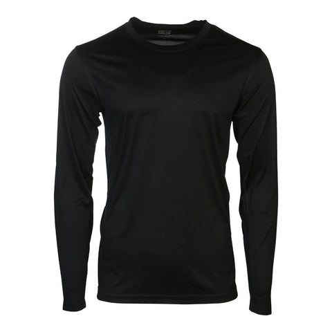 SIMPLY FIT ATHLETICS MEN'S LONG SLEEVE TECH TOP BLACK