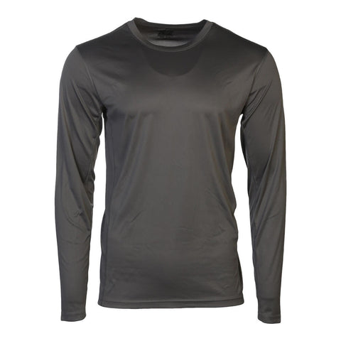 SIMPLY FIT ATHLETICS MEN'S LONG SLEEVE TECH TOP SMOKED PEARL
