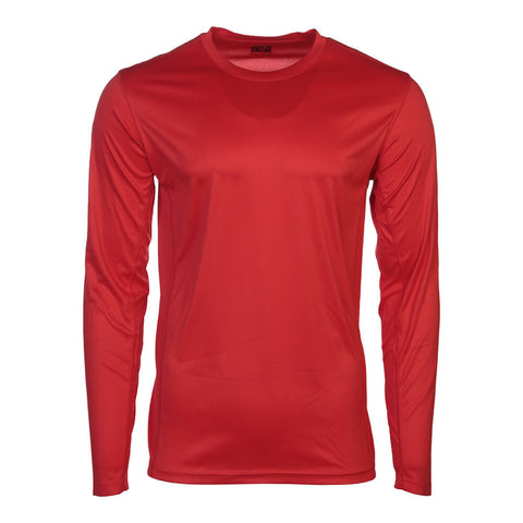 SIMPLY FIT ATHLETICS MEN'S LONG SLEEVE TECH TOP RED