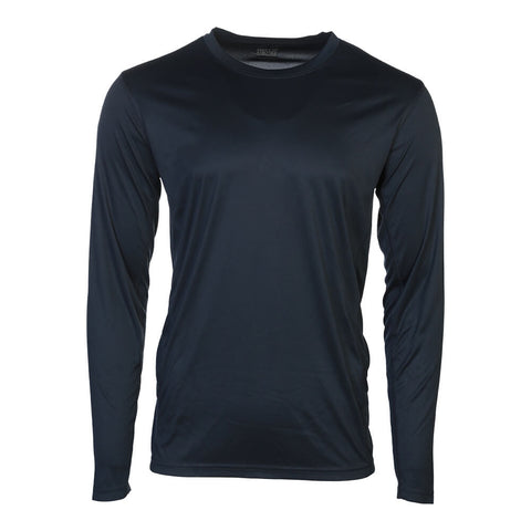SIMPLY FIT ATHLETICS MEN'S LONG SLEEVE TECH TOP DRESS BLUE