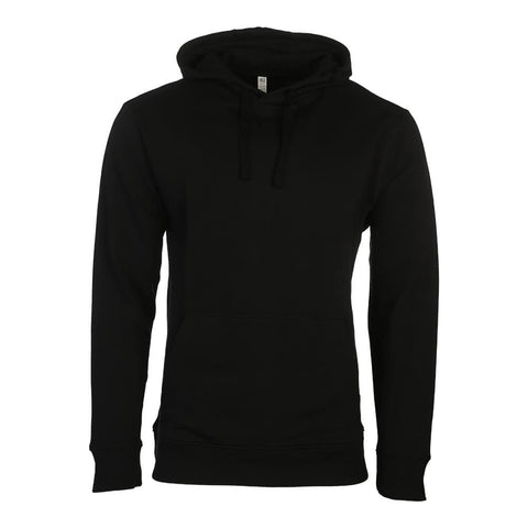 SIMPLY FIT ATHLETICS MEN'S FLEECE PULLOVER HOODY BLACK