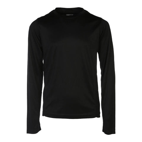 SIMPLY FIT ATHLETICS BOYS LONG SLEEVE TECH TOP BLACK