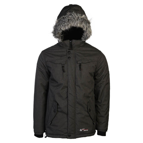 MISTY MOUNTAIN MEN'S QUASAR INSULATED JACKET CHARCOAL MELANGE