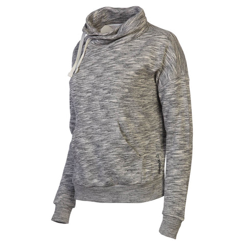 REEBOK WOMEN'S ELEMENTS MARBLE COWL NECK SWEATSHIRT MEDIUM GREY HEATHER
