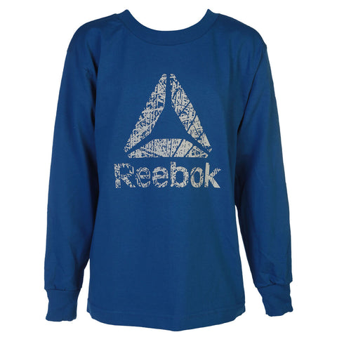 REEBOK BOYS DELTA LONG SLEVE TOP BLUE