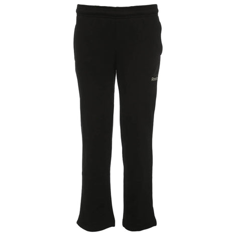REEBOK BOYS FLEECE OPEN HEM PANT BLACK