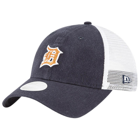 NEW ERA WOMEN'S DETROIT TIGERS TRUCKER SHINE CAP OTC