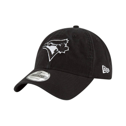 NEW ERA MEN'S TORONTO BLUE JAYS CORE CLASSIC TWILL CAP BLACK