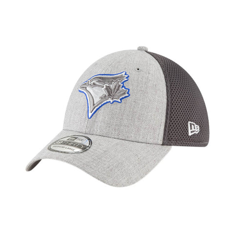 NEW ERA MEN'S TORONTO BLUE JAYS 3930 HEATHERED NEO POP CAP HEATHER GREY